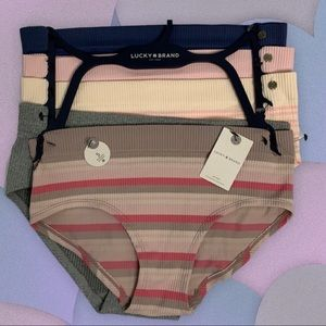 LUCKY BRAND PANTIES SEAMLESS HIPSTERS 5 PAIR MED